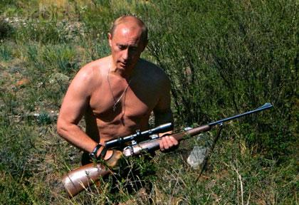 پوتین در حال شکار
